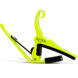 Kyser KG6NYA Special Edition Neon Collection Quick-Change Capo, Neon Yellow