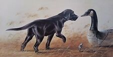 Lynn R Kaatz, SILENT PARTNER, Black Lab Pup and Decoy S/N Limited Edition Print