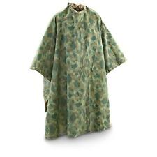 New Old Stock WWII USMC Poncho Reversible Green / Brown Dot Camo USA Made