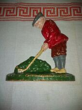 Vintage Cast Iron 'Golfer' Door Stop  - Golf