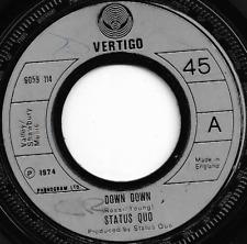 STATUS QUO - DOWN DOWN / NIGHTRIDE - ORIGINAL 70s BRITISH CLASSIC ROCK METAL