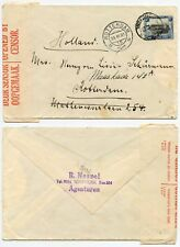 SOUTH WEST AFRICA WW2 CENSORED to NETHERLANDS 3d PICTORIAL SURFACE MAIL 1940