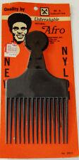 Vintage Nylon Black Afro Pick Comb M.A Industries Georgia USA 200-C
