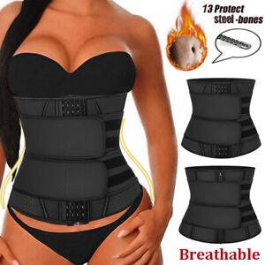 Latex Body Shaper Women Waist Trainer Trimmer Belt Sweat Cincher Slimming Corset