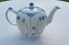 New ListingLarge Vintage Royal Copenhagen Blue Fluted Half Lace Teapot #611 Beautiful 2nd