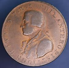 1795 Halfpenny Conder token John Howard Portsmouth coin *[15368]