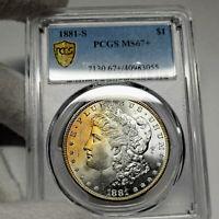 1881-S MS67+ Plus Morgan Silver Dollar $1, PCGS Graded