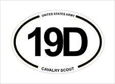 United States Army MOS 19D Cavalry Scout Oval Car Sticker Decal Waterproof