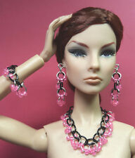 S794 Silkstone Barbie Fashion Royalty Doll Jewelry pink & black