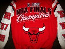 CHICAGO BULLS 6 TIME NBA FINALS CHAMPIONS Jacket  4X New Style