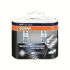 OSRAM NIGHT BREAKER h7 LAMPADA ALOGENA ABBAGLIANTI 12 V 55 W +110% px26d (2er)