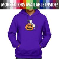 Halloween Snoopy Pumpkin Jack O' Lantern Peanuts Sweatshirt Hoodie Sweater S~3XL
