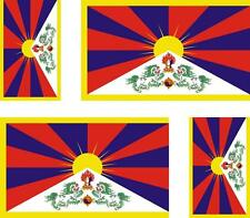 4x Adhesivo adesivi pegatina sticker vinilo bandera vinyl moto coche tibet