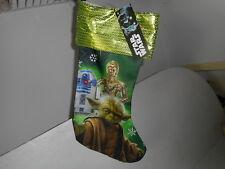 Disney Star Wars (Yoda/R2D2/C3P0) Christmas Stocking - NWT
