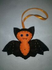 Handmade Halloween decoration , bat ornament spooky hanging decoration