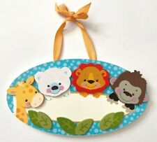 Precious Planet Fisher Price Wood Wall Plaque Personalized Baby's Room