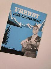 "FREDDY QUINN-WALTER GILLER /Booklet ""under  fremmed himmel""(Unter Fremden Stern)"