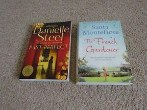 2 Books - Past Perfect (Danielle Steel) & The French Gardener (Santa Montefiore)
