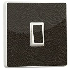 Brown Leather Light Switch Sticker vinyl Generic Single cover skin by stika.co