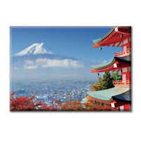 Tela Quadro Canvas Paesaggio Monte Fuji Montagna Giappone Panorama Foto  Citt