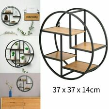 4-tier Round Hanging Storage Shelf Circular Wall-mounted Rack Special Design