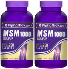 MSM 1000 + SULFUR - 1000 MG - DIETARY SUPPLEMENT - 500 CAPSULES - 2 BOTTLES