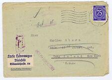 All.Bes./Gemeinsch.Ausg. Mi. 934, EF, Bielefeld - New York + retour
