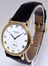 Patek Philippe 3919 Calatrava 18k Yellow Gold Mens Watch & Box 3919J