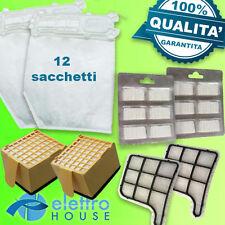 Ricambi Folletto VK 135 136, 12 sacchetti + 12 profumi + 4 filtri adattabile