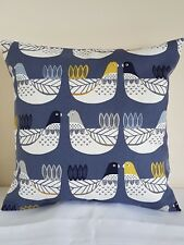 "16"" NEW CUSHION COVER ILIV CLUCK CLUCK HENS FARM SCANDI NORDIC COTTAGE BIRDS"