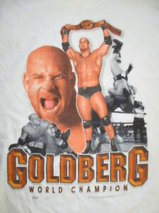 Logotel Label - 1998 WCW GOLDBERG World Champion (MED) T-Shirt The Longest Yard