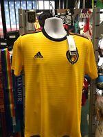 Adidas Belgium Away Yellow Black soccer jersey World Cup 2018 Size XL Men's Only