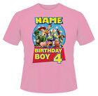 Toy Story Birthday Personalised Boys Girls T-Shirt Age 4 Ideal Gift/Present
