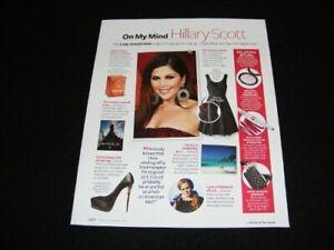 HILLARY SCOTT magazine clipping from 2012