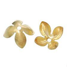 10x perlas tapas perlkappen remates filigrana flores para 14 mm perlas Hell oro