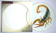 "NM/NM! THE SCORPIONS BIG CITY NIGHTS 12"" VINYL PICTURE DISC"