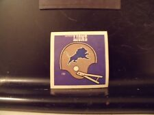 1977 NFL Football Helmet Sticker Decal Detroit Lions Sunbeam Bread