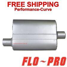 """2 Chamber Performance Exhaust Street Muffler FLO-PRO Super V - 2"""" O/C - V42041"""