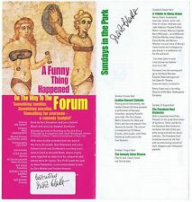 Susie Blake    On The Way To The Forum  Signed Twice  Playbill  Theatre  Flyer