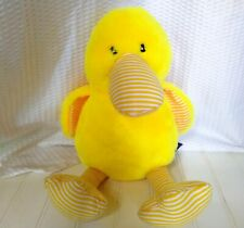 Nandog Plush Duck Squeaky Toy Stuffed Animal Yellow Stripe