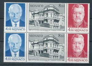 [21286] Monaco 1987 2x good set of stamps in triptych very fine MNH