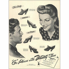 1943 Vitality Shoes: For Duty Dress or Date Vintage Print Ad