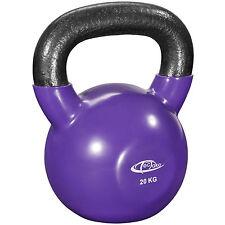 Pesa rusa 20 kg Kettlebell ejercicio gimnasio entreno peso redondo vinilo hierro