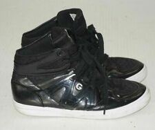 GUESS Ladies High-Top Sneakers Black Size 8M