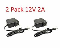 2 Pack 12 Volt DC 2 Amp Surveillance Camera Power Supply For HD AHD DVR Camera