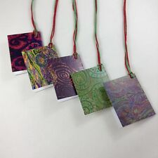 Gift Tags Mini Cards with string 20 Christmas Rainbow Table Cards Item Labels