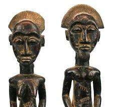 Art Africain Arts Premiers - Couple Baoule - Côte d'Ivoire - 48 & 46,5 Cms ++++