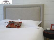 """TOP QUALITY NEW  LUXURY STUDDED HEADBOARD IN LINEN FABRIC IN TALL 26"""""""