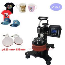 2 in 1 Heat Press Machine Digital Transfer Sublimation T-Shirt Mug Hat Combo Kit
