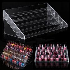 5 Tiers Rack Acrylic Make Up Case Nail Polish Storage Organizer Display Stand UK